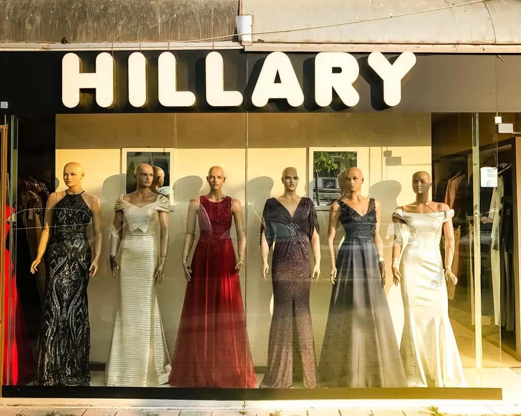 Kosovo - Pristina - Hillary Store