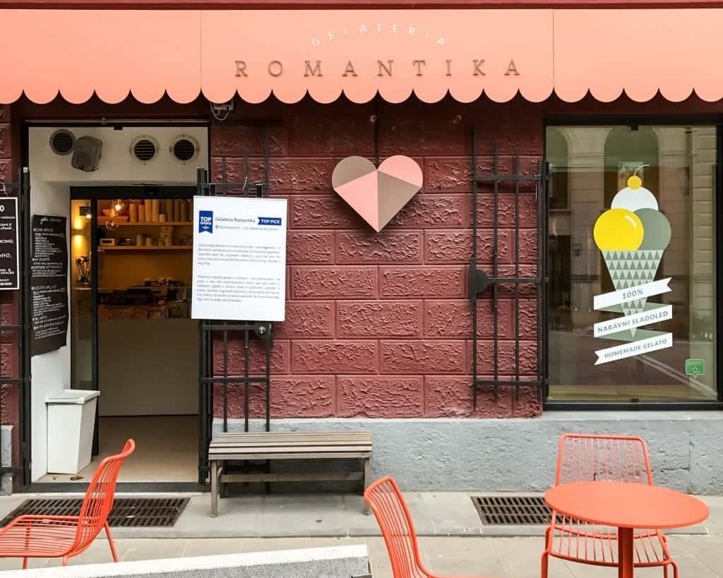 Slovenia - Ljubljana - Gellateria Romantika Cafe