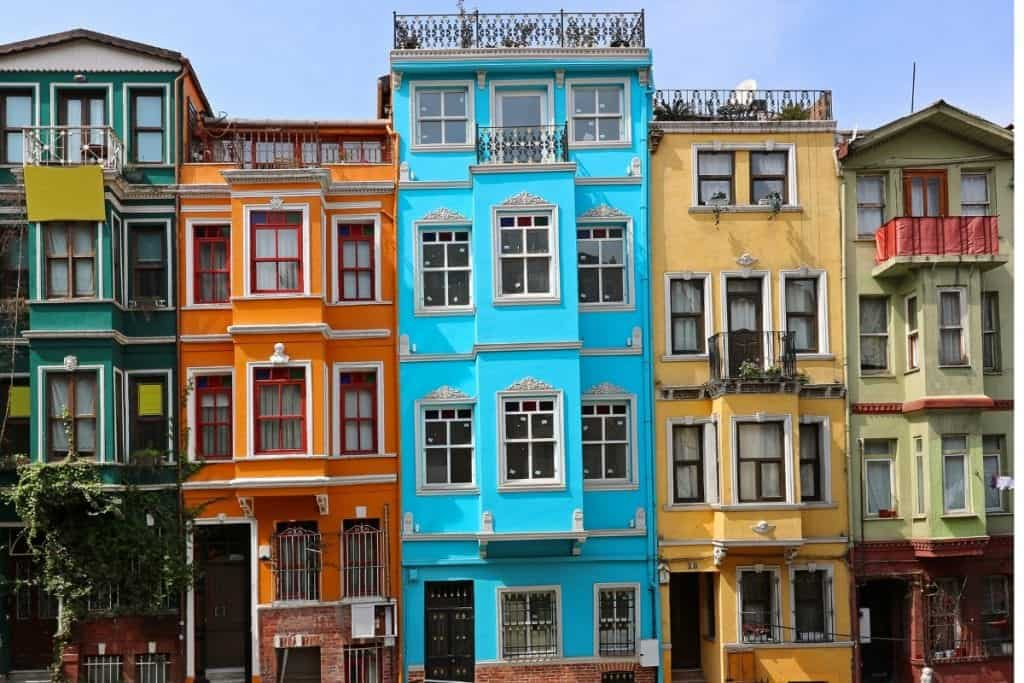Turkey - Istanbul - Colorful Houses - Canva Purchase