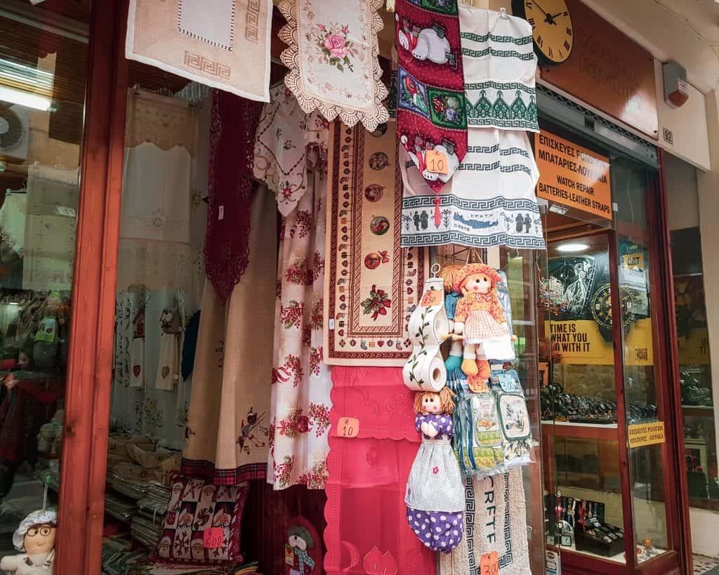 Crete - Rethymnon - Textile Shop
