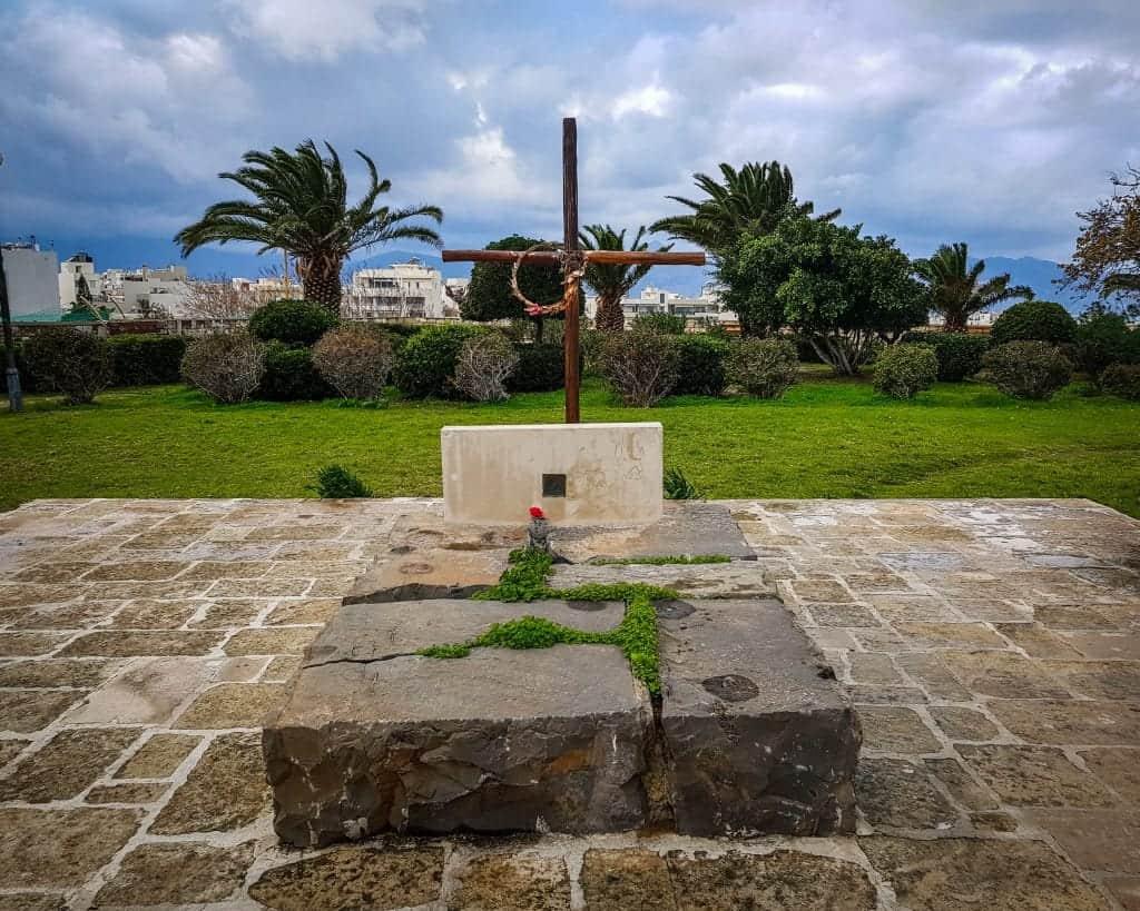 Greece - Crete - Heraklion - Grave Monument of Kazantzakis Tafos Kazantzaki