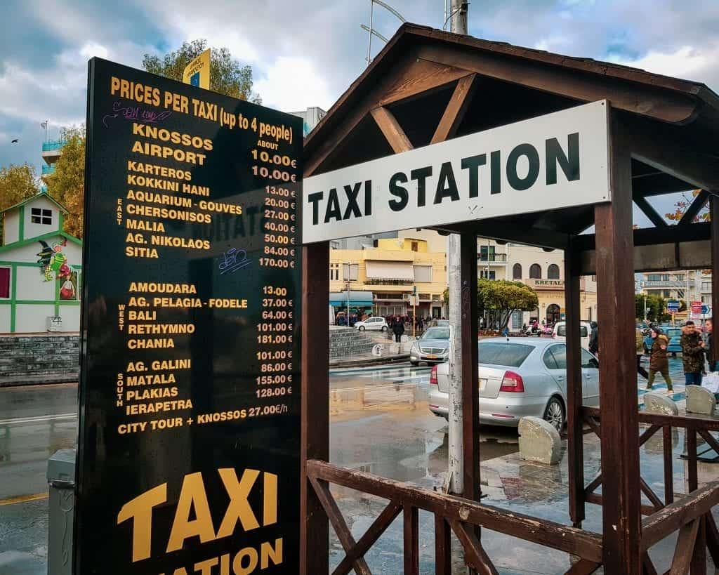 Greece - Crete - Heraklion - Taxi Station