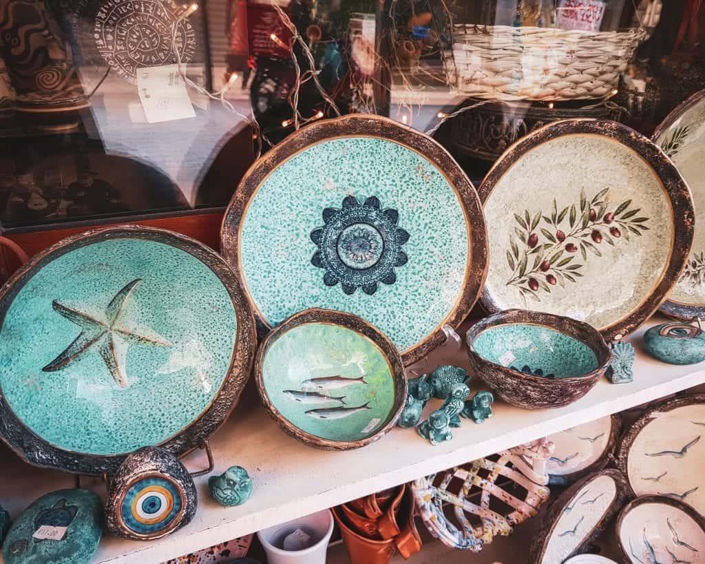 Greece - Crete - Heraklion - Souvenirs Pottery