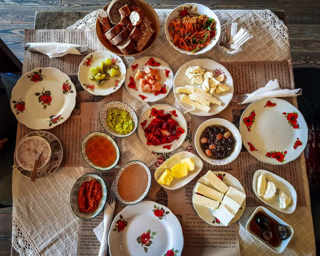 Turkey - Istanbul - Turkish Breakfast at Private Cafe
