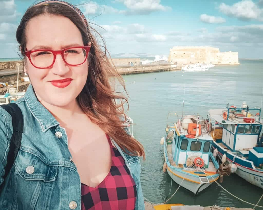 Crete - Heraklion - Old Venetian Harbor Stephanie Selfie