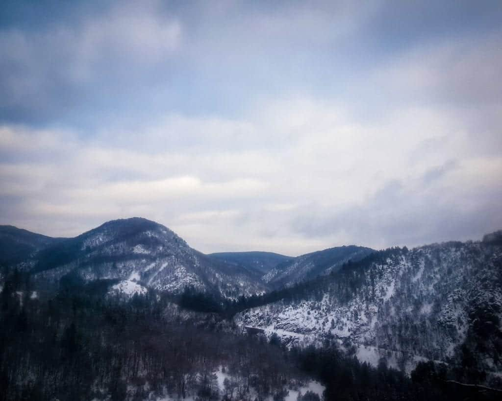 Bulgaria - Ria Mountains - View from the Bus from Samokov to Sofia