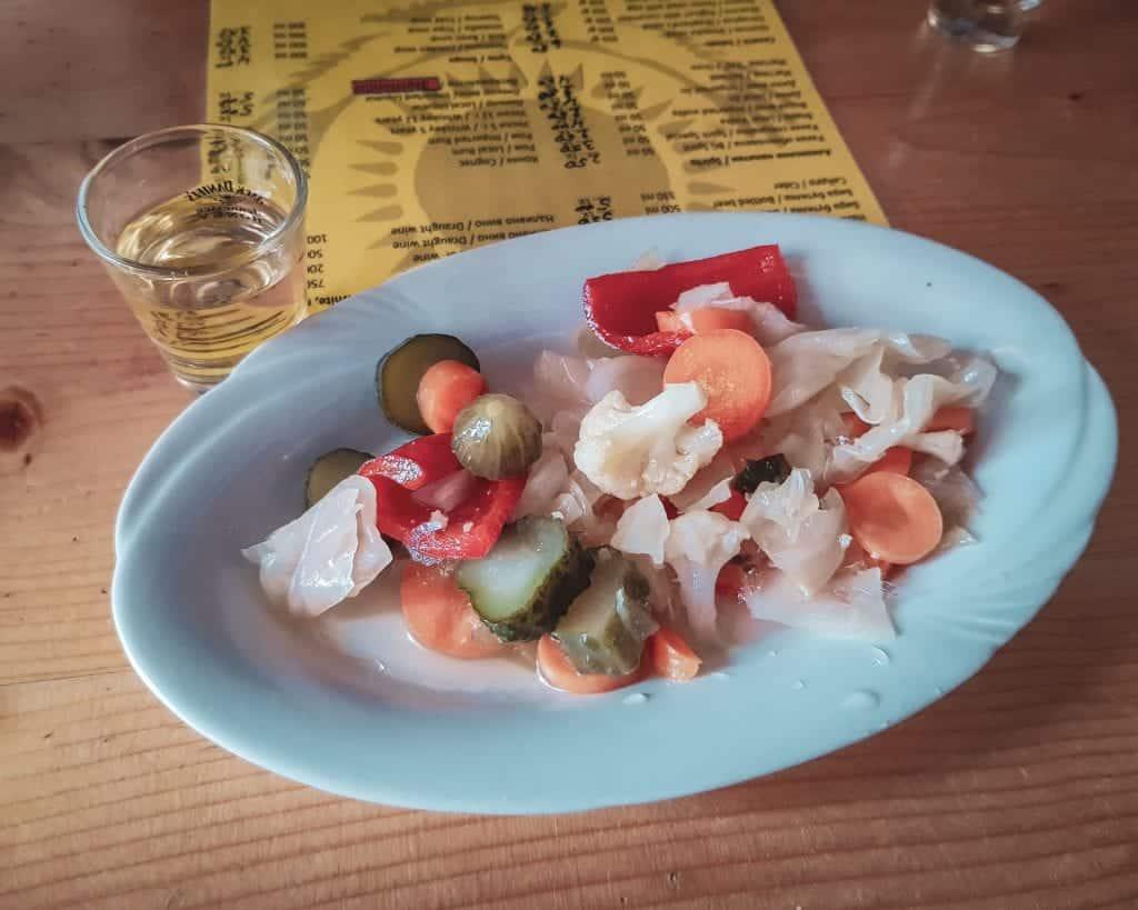 "Bulgaria - Borovets - Sunny's Bulgarian Food Bulgarian Pickled Vegetables ""Bulgarian Trushia"""