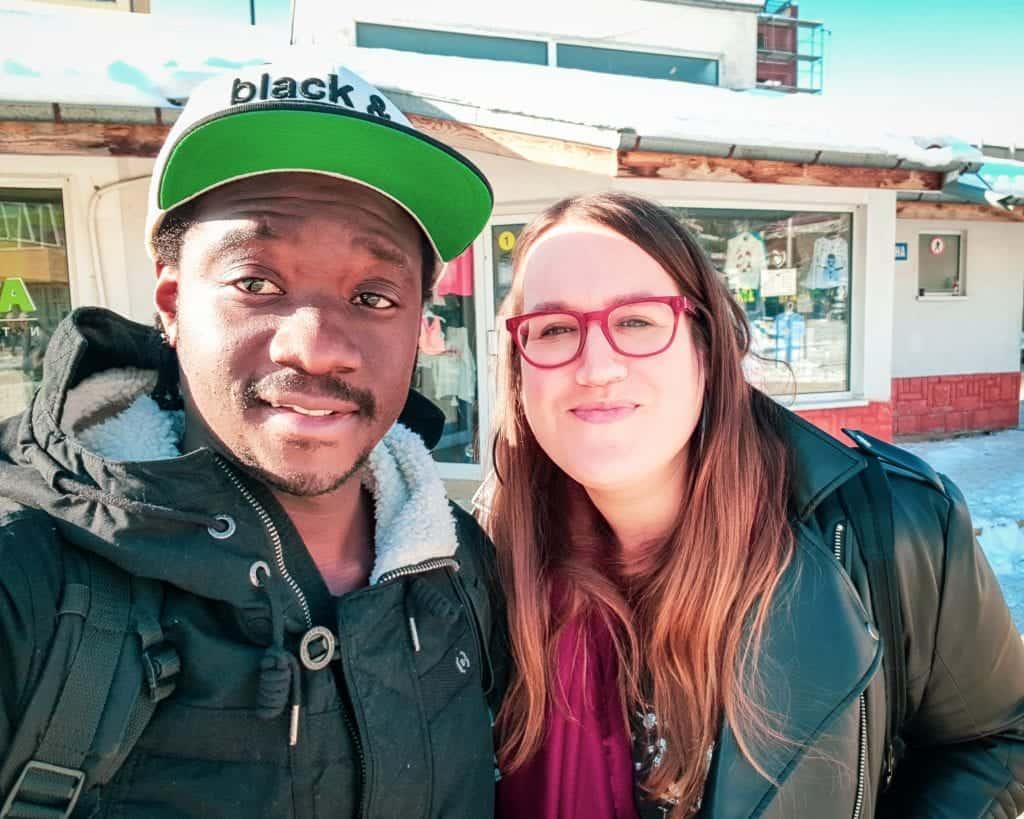 Bulgaria - Samokov - Stephanie and Valentine selfie