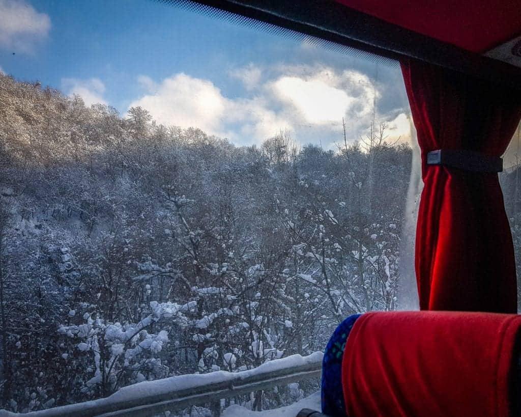 Bulgaria - Sofia - View from the bus from Sofia to Samokov