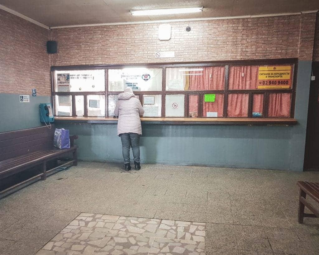 Bulgaria - Sofia - Sofia South Bus Station Avtogara Yug Ticket Window