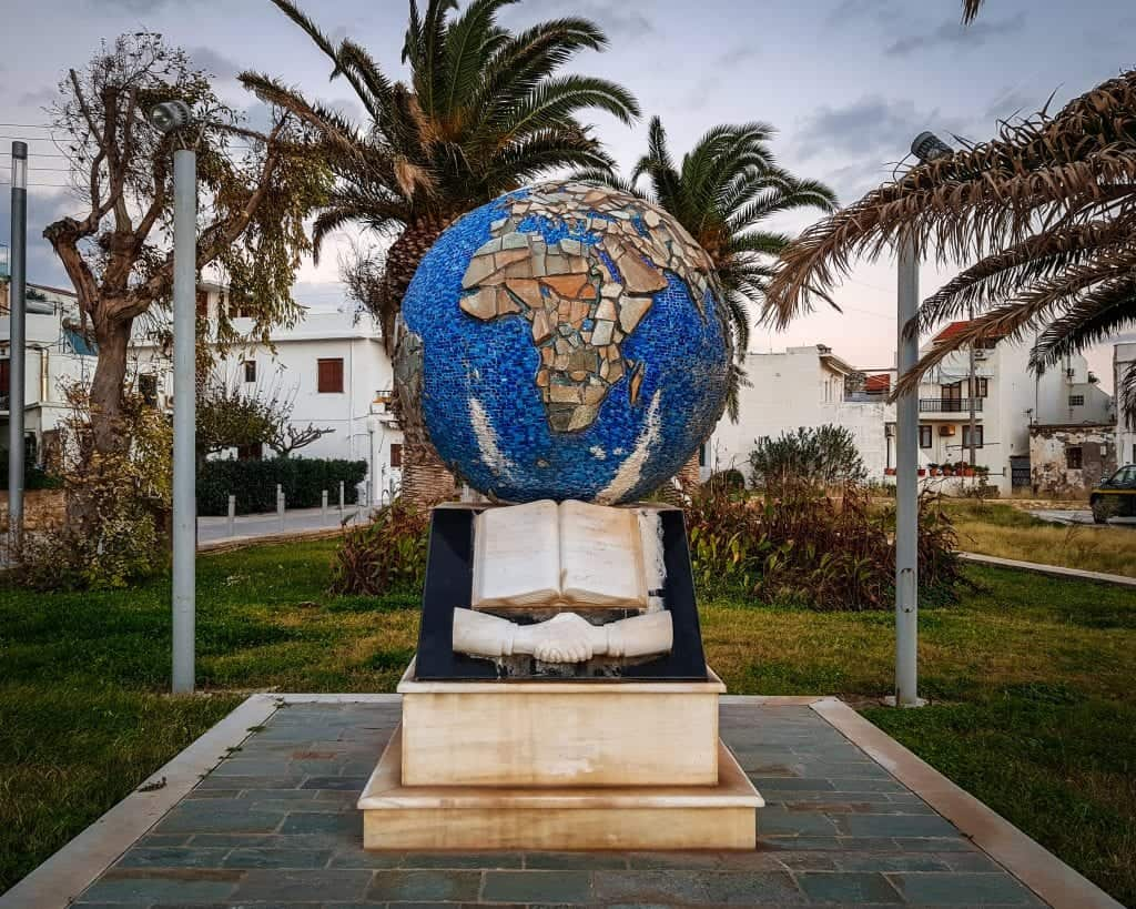 Greece - Crete - Rethymnon - Globe Monument