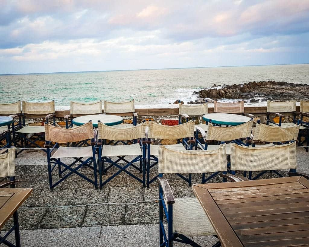 Greece - Crete - Rethymnon - Coast Restaurant