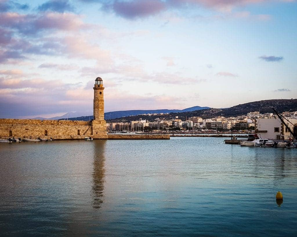 Greece - Crete - Rethymnon - Venetian Harbor of Rethymnon Lighthouse