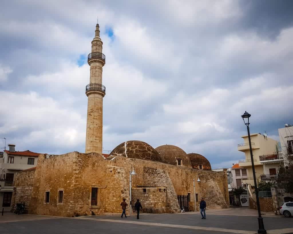 Crete - Rethymnon - Neratze Mosque or Gazi Hussein Mosque in Mikrasiaton Square