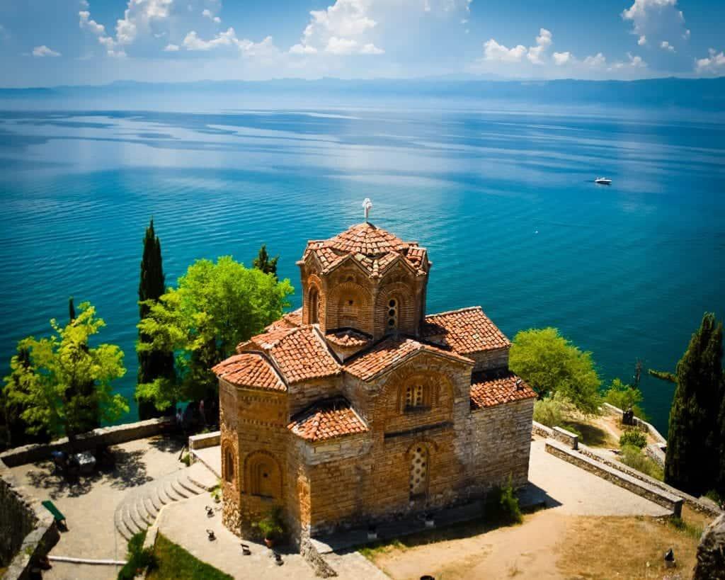 Macedonia - Lake Ohrid - Church of St. John at Kaneo