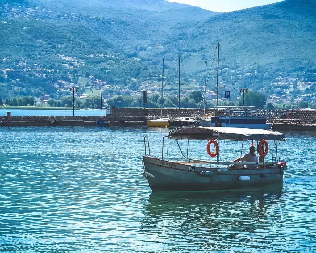 Macedonia - Lake Ohrid - Boat