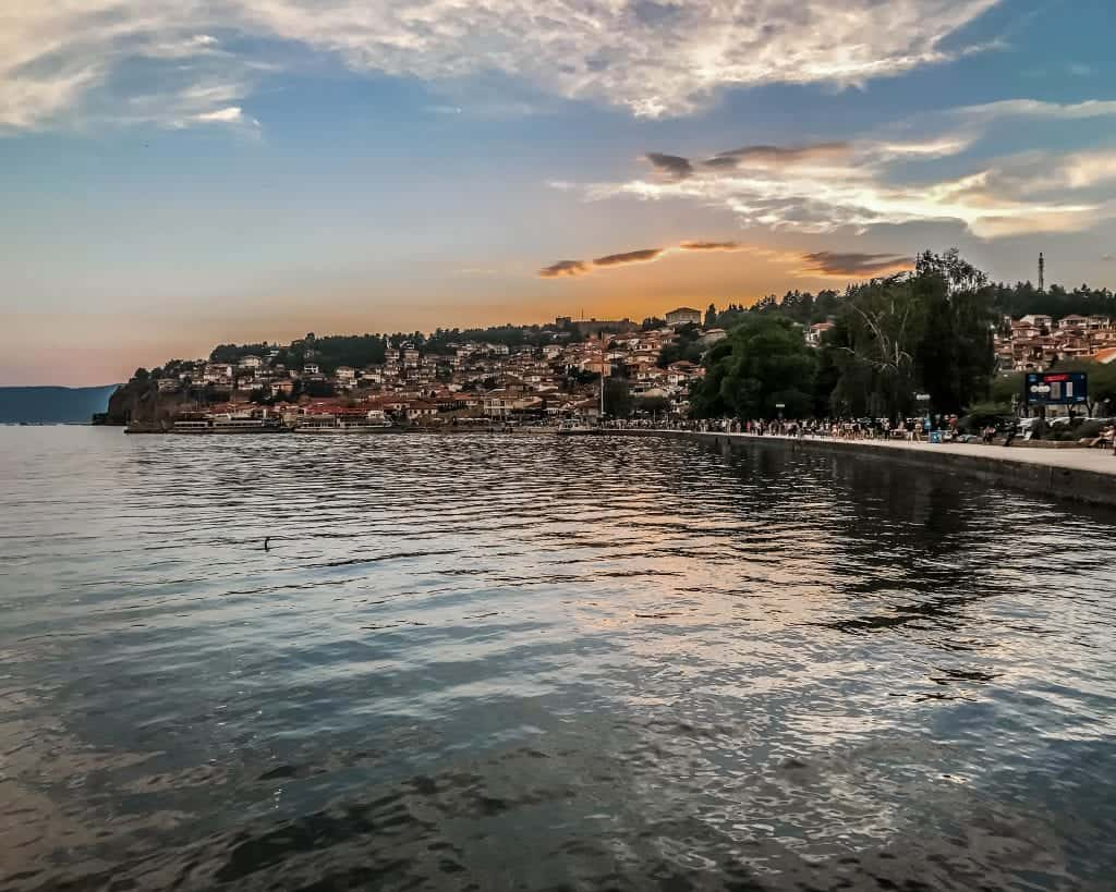 Macedonia - Lake Ohrid - Sunset