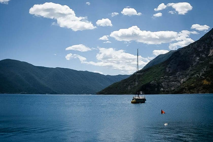Montenegro - Risan - Sailboat