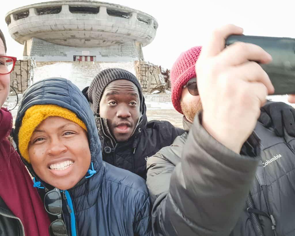 Bulgaria - Buzludzha Selfie - Buzludzha in Winter