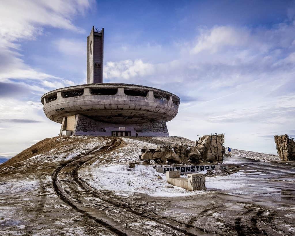 Bulgaria - Buzludzha and Snow - Buzludzha in Winter