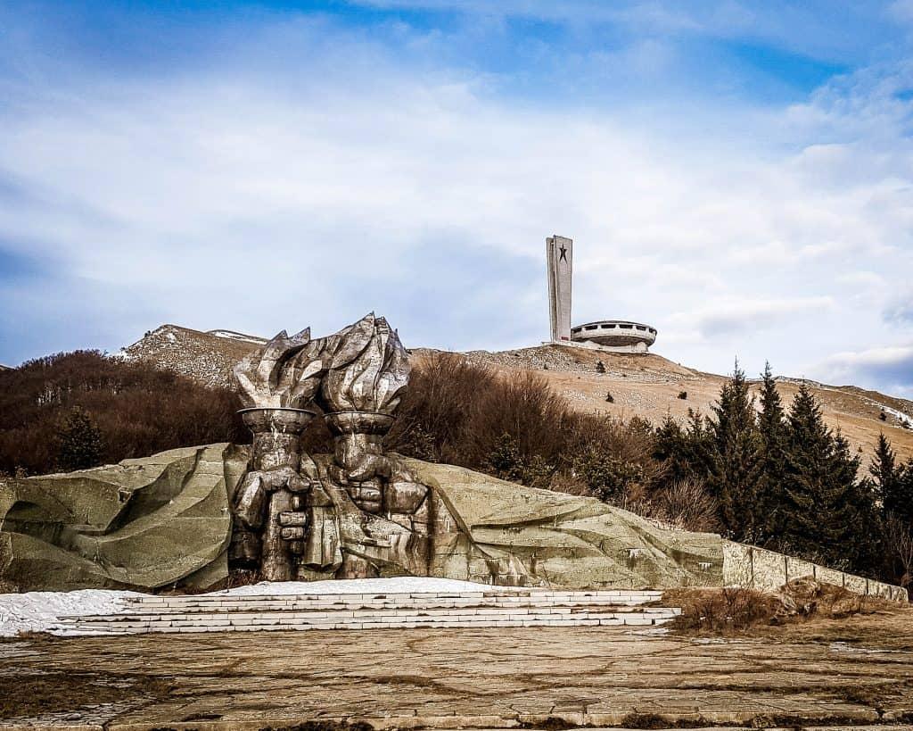 Bulgaria - Buzludzha and Hands - Buzludzha in Winter