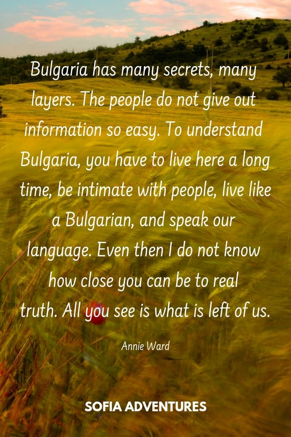 Annie Ward Quote about Bulgaria