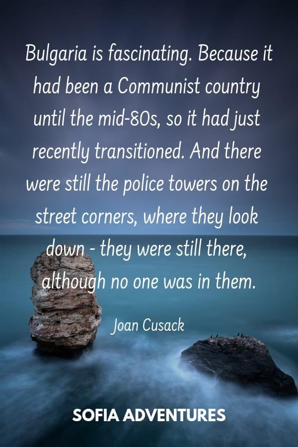 Cusack Bulgaria Quote