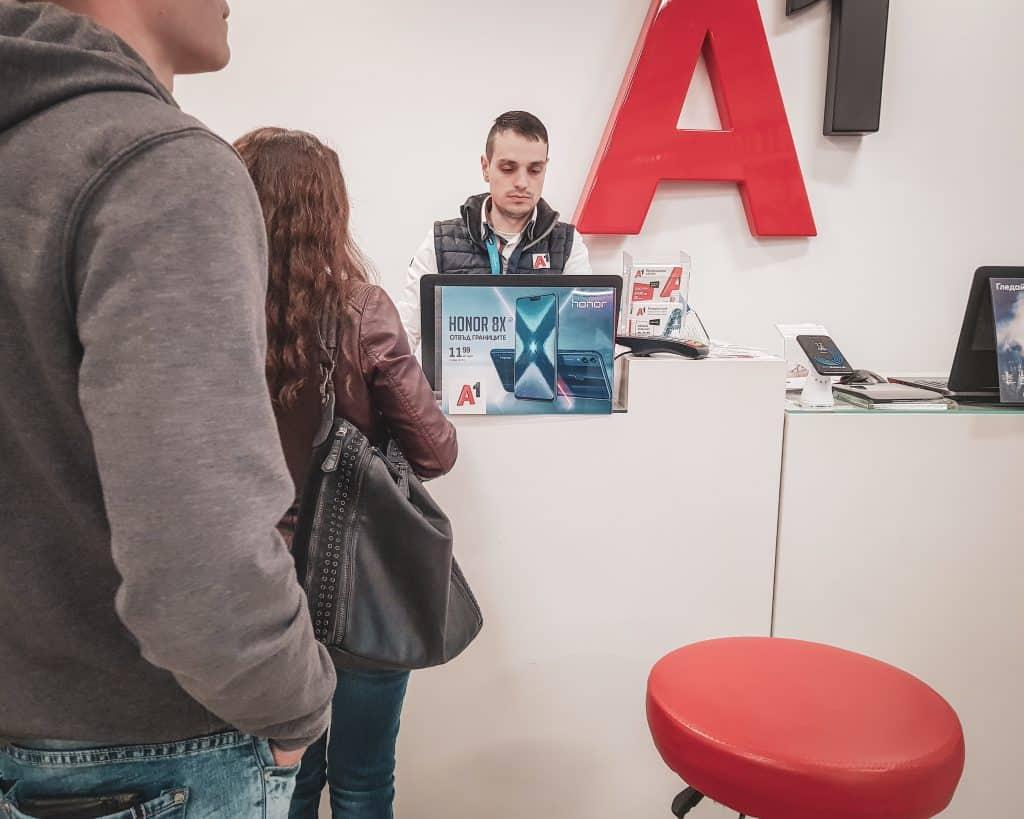 Bulgaria - Sofia - Buying a Sim Card at A1