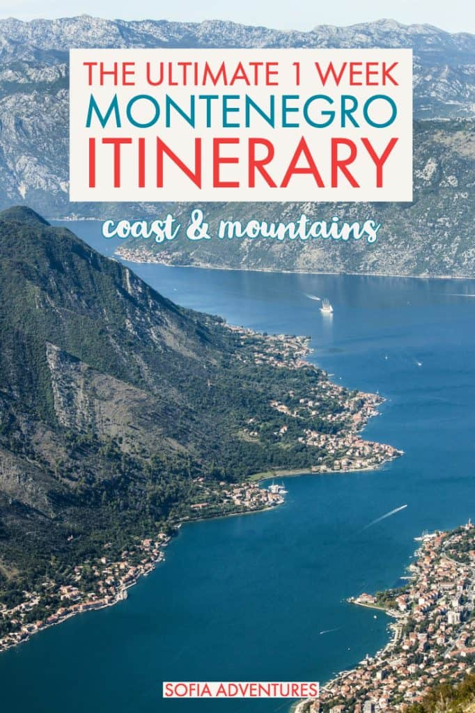 Want to travel Montenegro? This 1 week in Montenegro itinerary will help you plan the perfect Montenegro vacation. From the Bay of Kotor to the mountains of Kolasin to the beaches of Budva and its Old Town, you'll find plenty of beautiful Montenegro photographs to inspire you to book that trip to Montenegro (and all the info you need to actually pull it off)