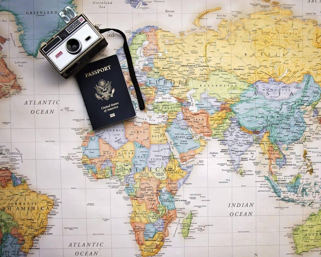 Passport Camera and Map - Pixabay