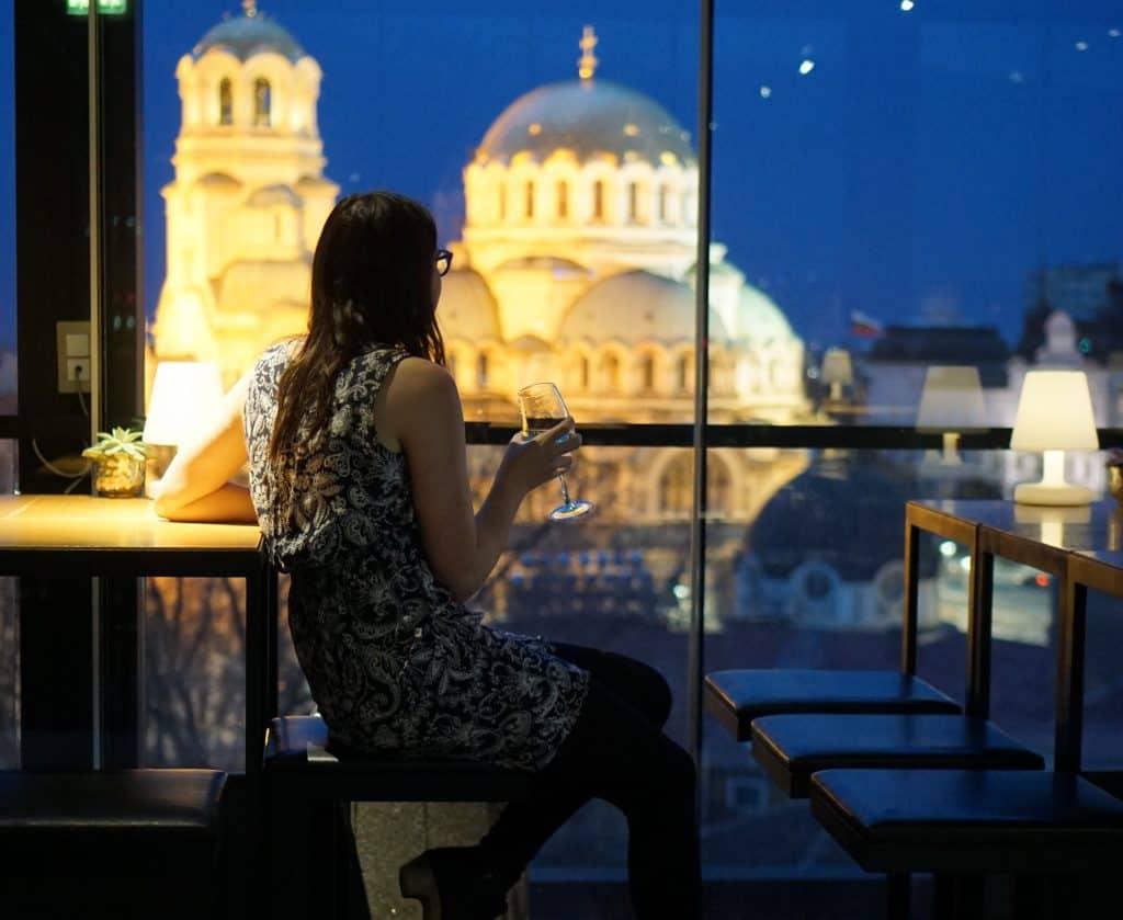 Bulgaria - Sofia - Sense Rooftop Bar Allison