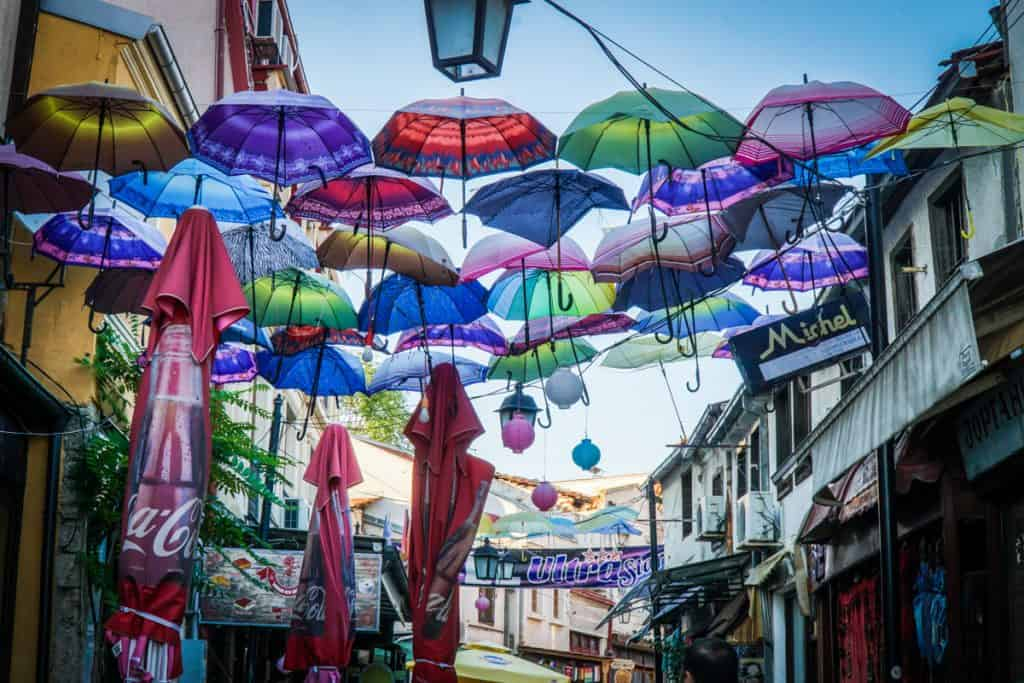 Skopje - Macedonia - whack umbrellas