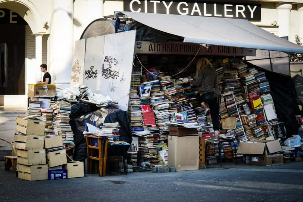 Skopje - Macedonia - Massive rats nest of books