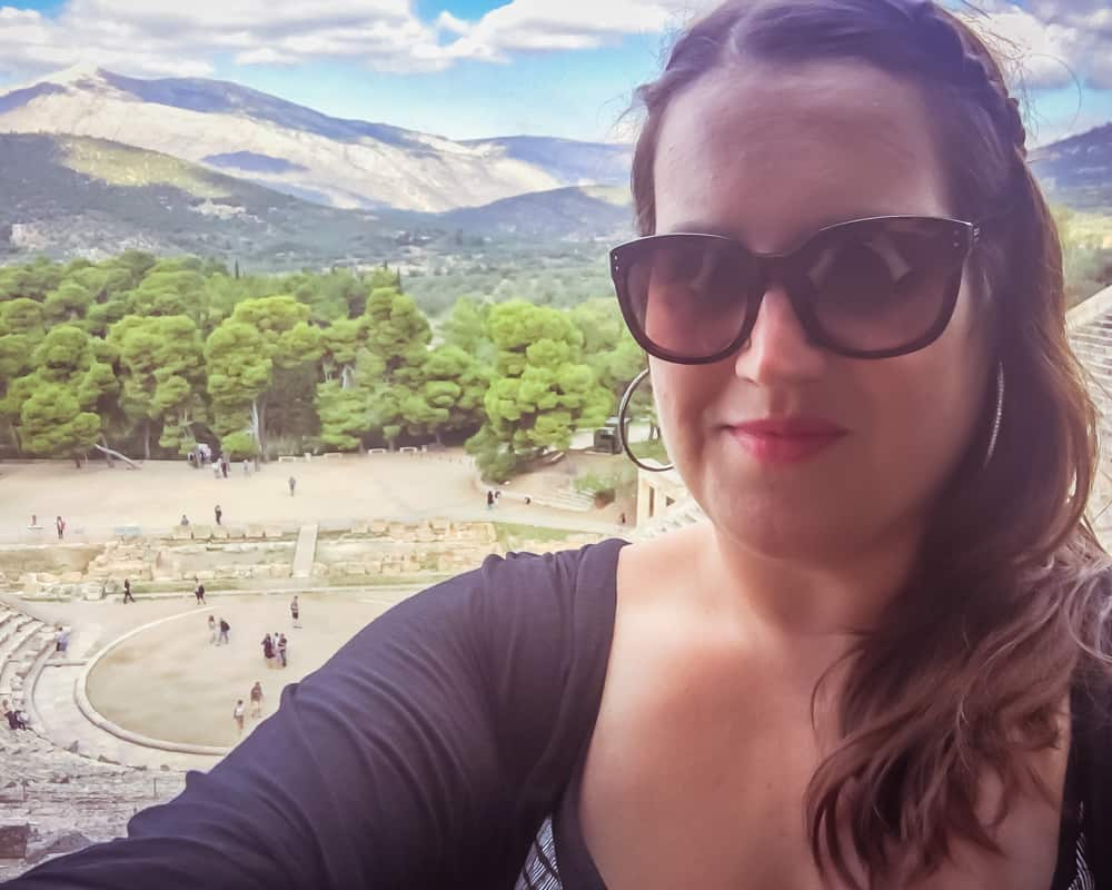 Greece - Epidaurus - Stephanie Selfie