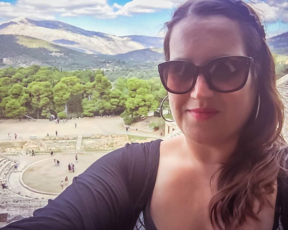 Greece - Epidaurus - Stephanie Selfie