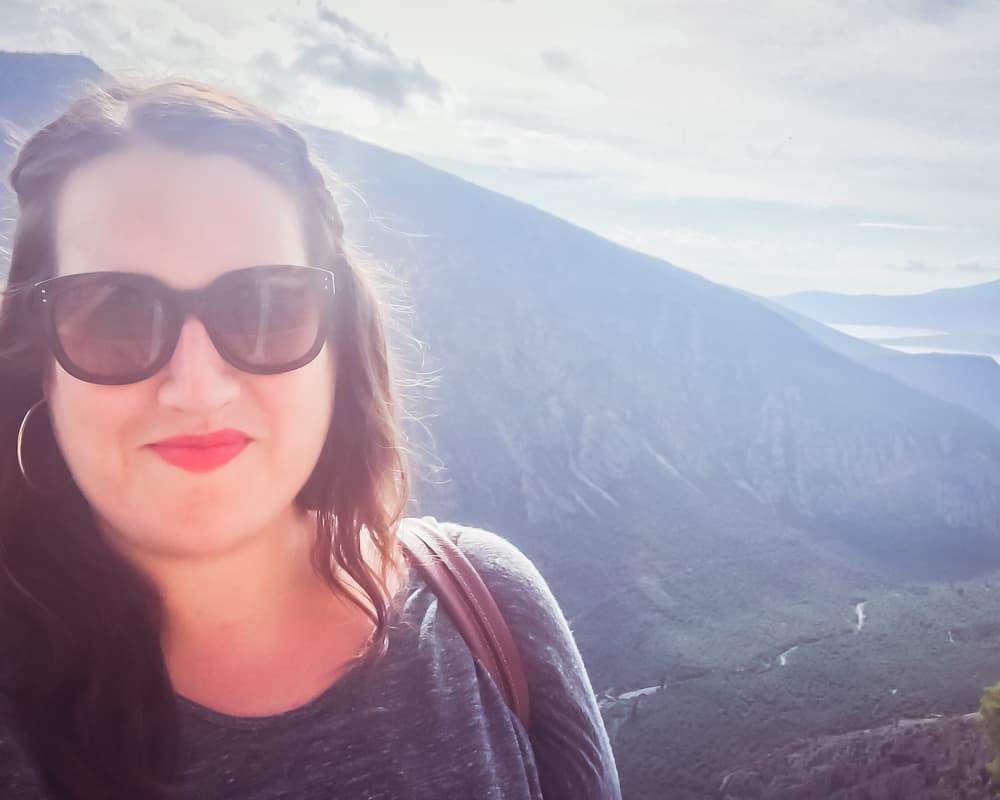 Greece - Delphi - Stephanie Selfie