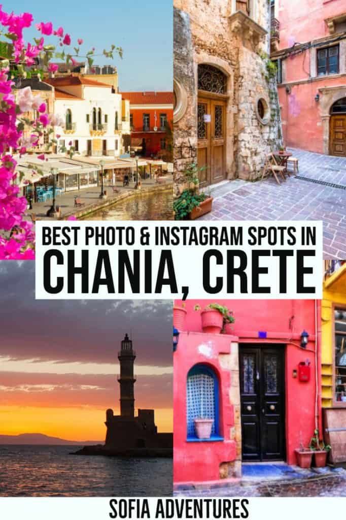 Visiting Chania, Crete? This gorgeous Greek island is full of incredible photography locations, and many of them are in Chania! Here is our guide to Instagram Chania, full of Instagrammable places to visit in Chania and nearby in Crete. This Chania travel photography guide has tips for the best Chania photo spots, cutest places in Chania, and prettiest views in Chania.
