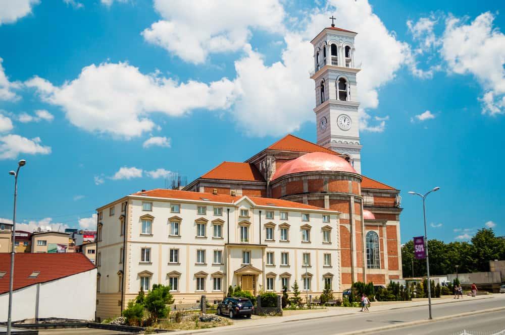 Kosovo - Pristina - Cathedral of Mother Tereza - shutterstock_381413518