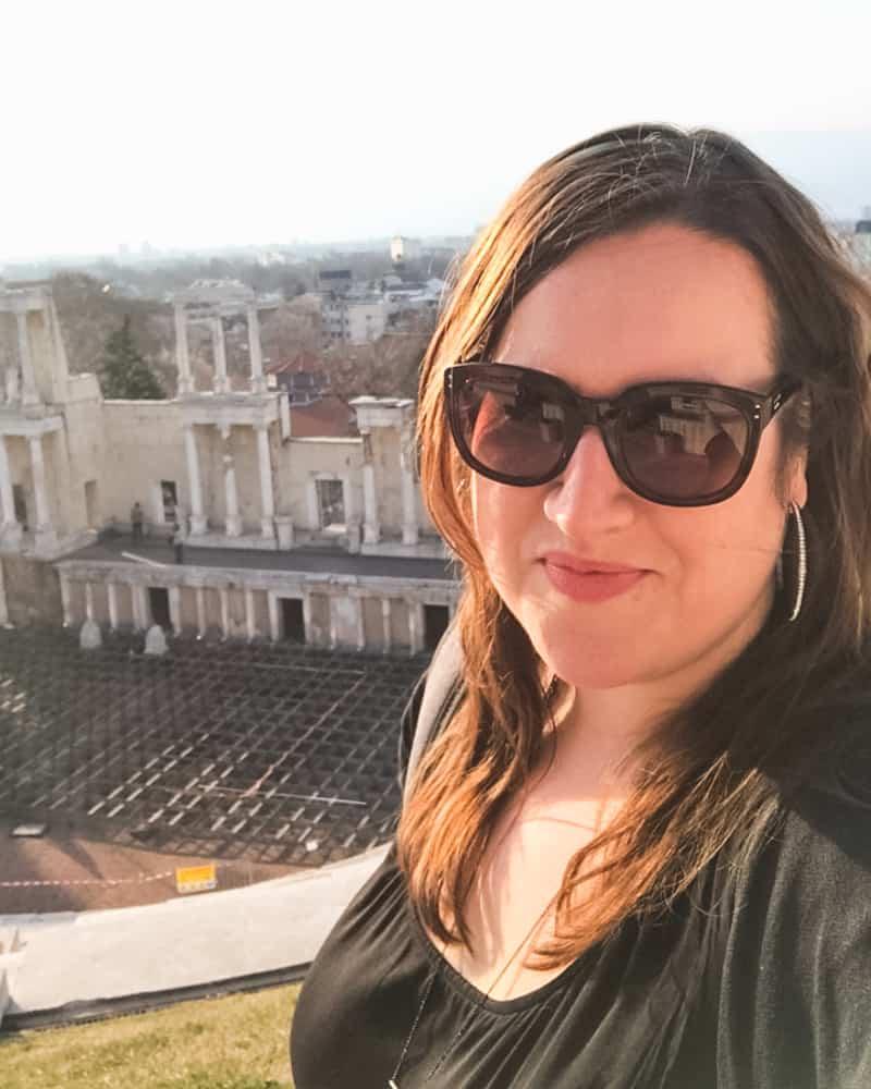 Bulgaria - Plovdiv - Selfie Stephanie Ancient Roman Theater
