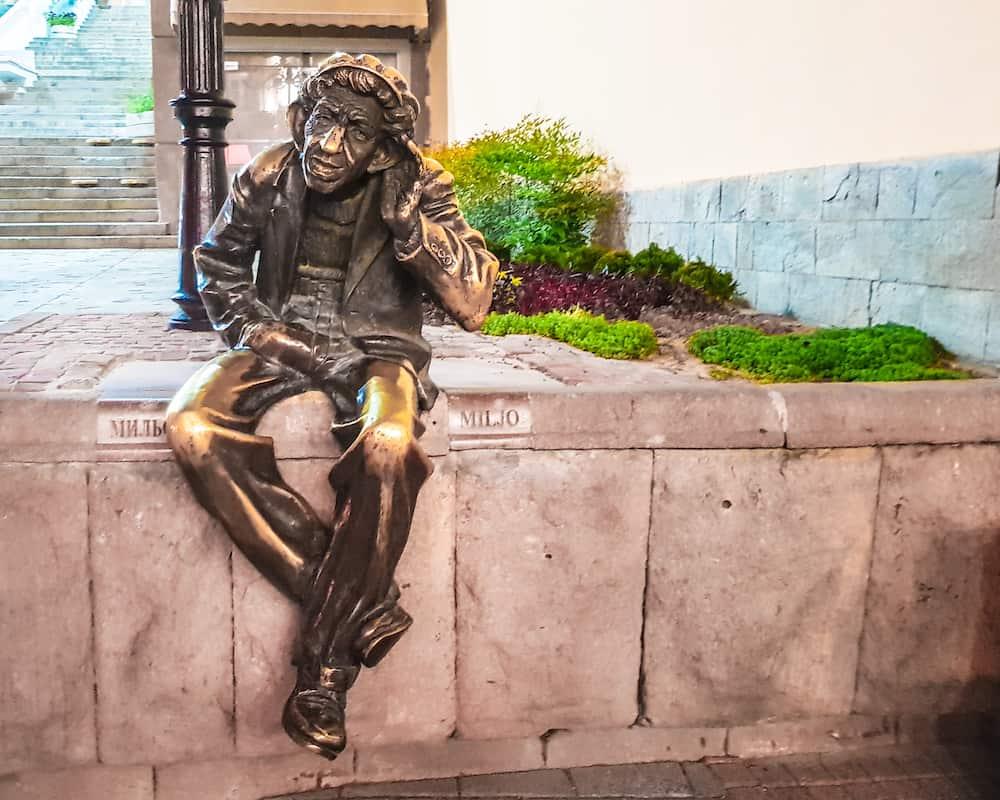 Bulgaria - Plovdiv - Nighttime Miljo Statue