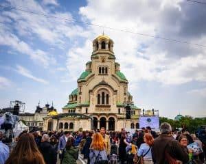Bulgaria - Sofia - Pope Francis Visits Sofia, Bulgaria Alexander Nevsky Cathedral