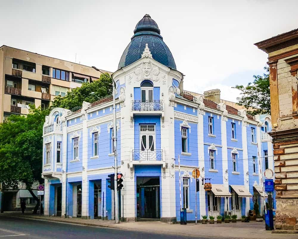 Bulgaria - Plovdiv - Colorful Downtown Blue Building