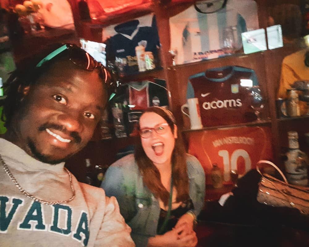 Bulgaria - Plovdiv - No Sense Bar Selfie Stephanie and Valentine