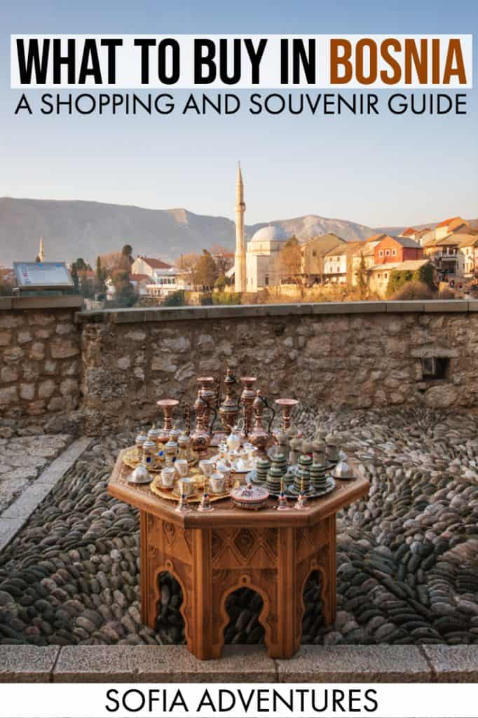 Planning to travel Bosnia? Don't forget some Bosnian souvenirs on your way home so you can remember your Bosnia trip! This Bosnia shopping guide will help you decide what to buy in Bosnia. These ideas for Bosnian gifts, art, and crafts will help you decide the ultimate souvenirs from Bosnia and Herzegovina!