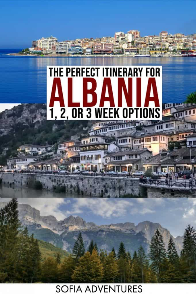 Planning to travel Albania? We've created the ultimate Albania itinerary, perfect for anywhere from one week in Albania up to 2 or even 3 weeks in Albania. From the Albanian Riviera to the Albanian Alps, from Tirana to Berat to Saranda to Ksamil to Butrint, this post covers the top places to visit in Albania as well as some off the beaten path Albania alternatives.