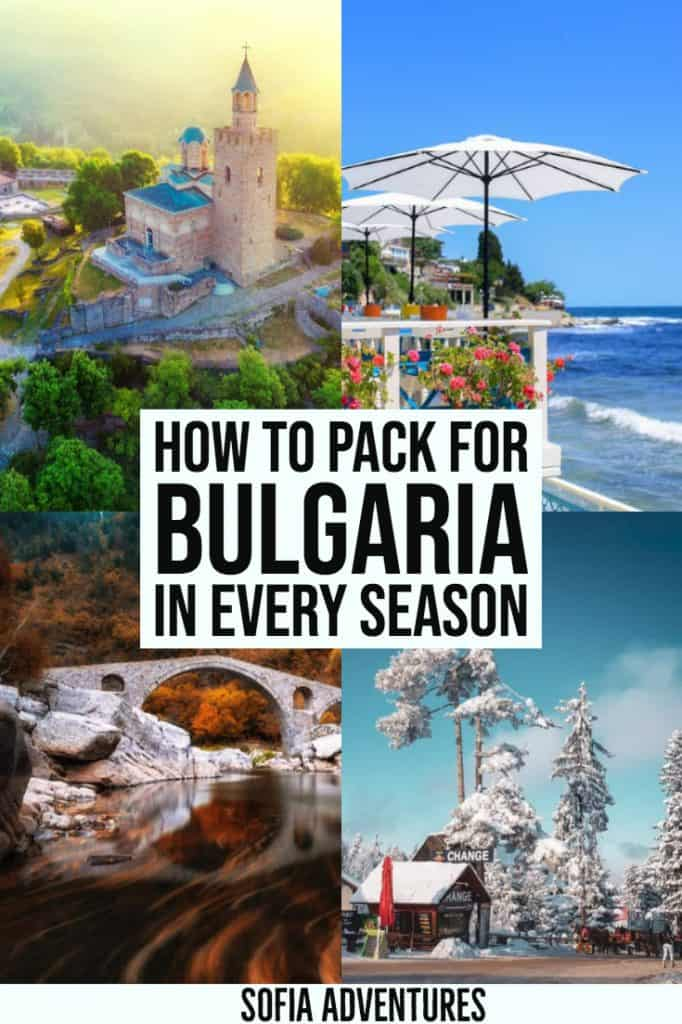Planning to visit Bulgaria? This ultimate Bulgaria packing list for all genders and seasons will be your guide. This women's and men's packing list for Bulgaria in winter, summer, spring, or fall will help you decide what to pack for Bulgaria and what to wear in Bulgaria (and what to leave behind!)