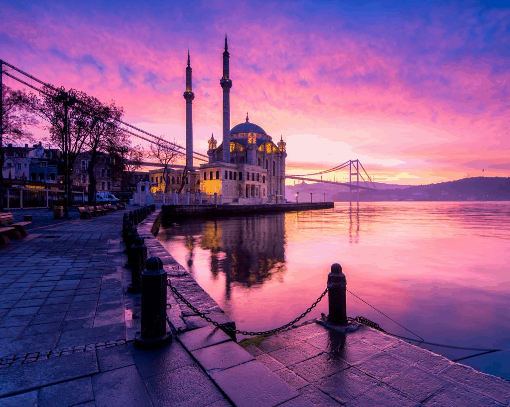 Turkey - Istanbul - Ortakoy Mosque at Sunset - Canva