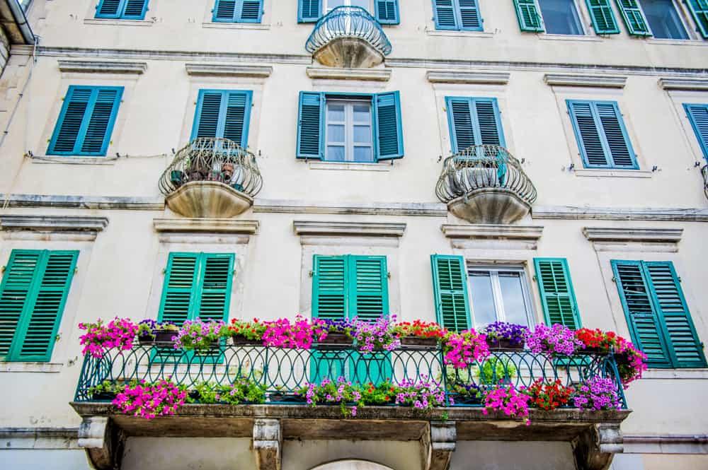 Dubrovnik - Croatia - Colorful window shutters and flowers