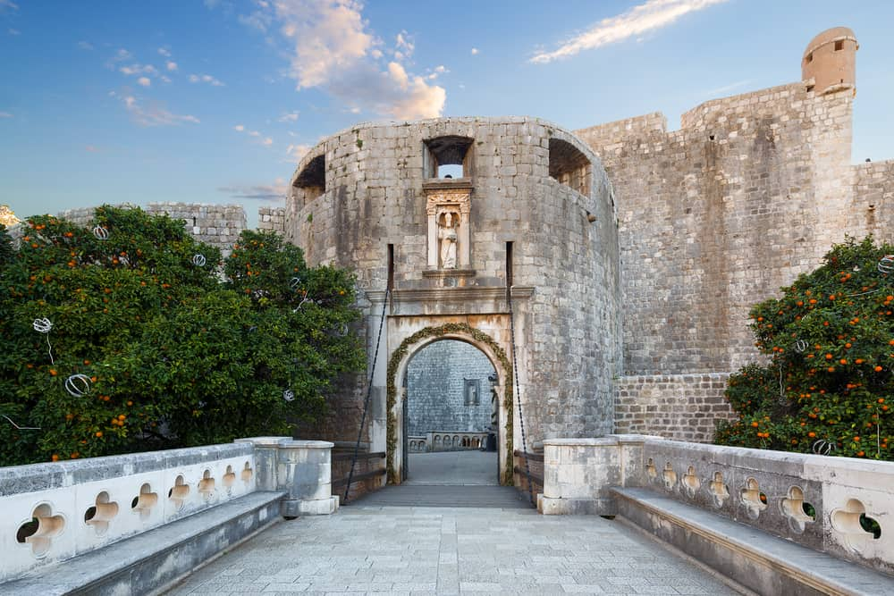 Dubrovnik - Croatia - Gate to enter walled city