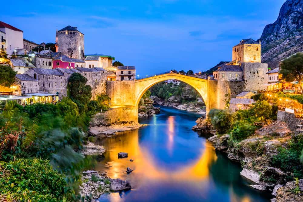 Mostar - Bosnia - Bridge at dark
